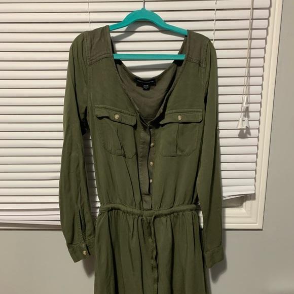 American Eagle Outfiter XXS green short dress